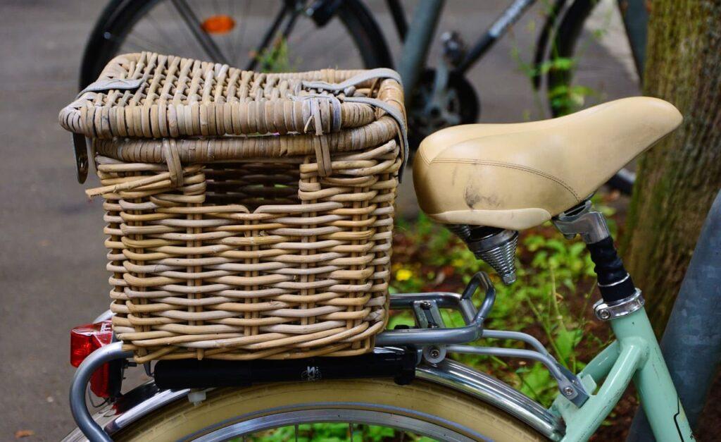Sillín para bicicleta claro