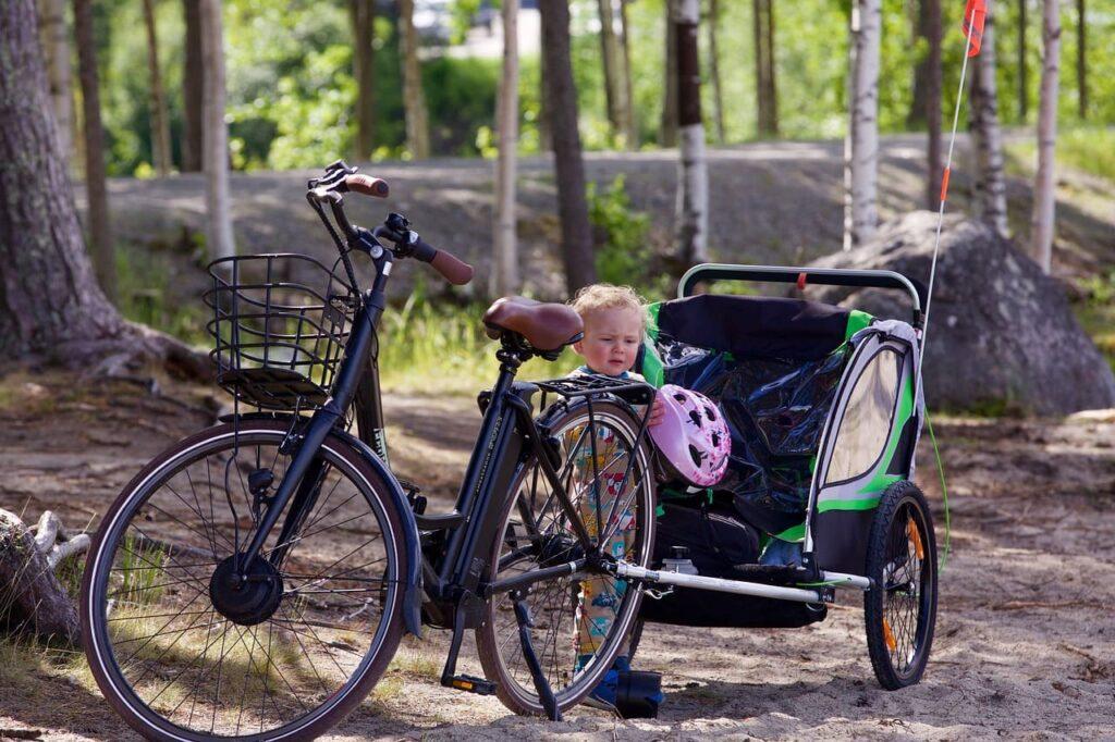 Remolque de bicicleta para niños