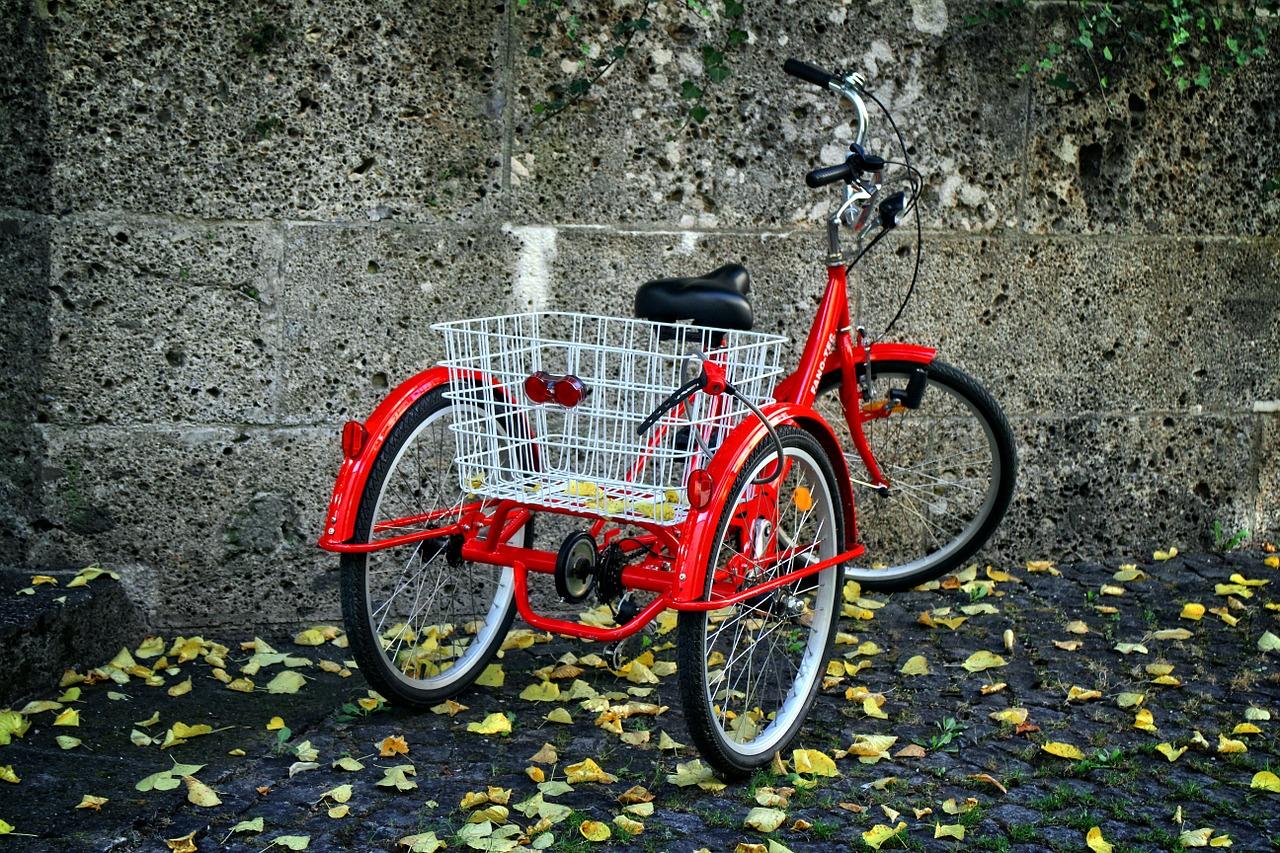 Triciclo para adultos rojo